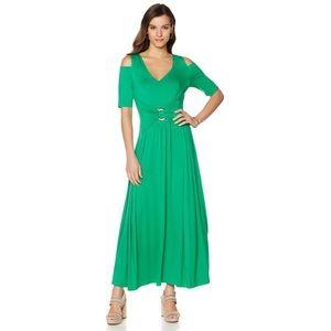 Liz Lange cold shoulder maxi dress. Size Medium